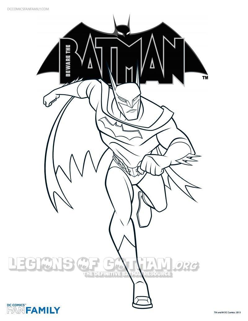 disegni da colorare di batman il cavaliere oscuro